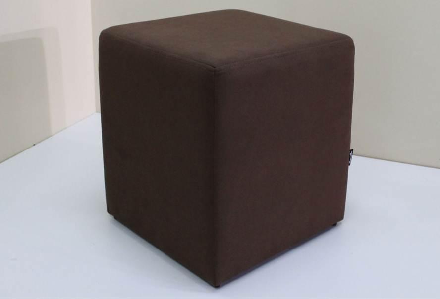 Пуф Куб (микрофибра темно-коричневый)