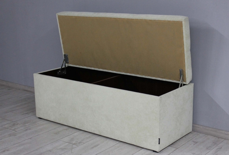 Банкетка Стенді з ящиком (флок молочний)