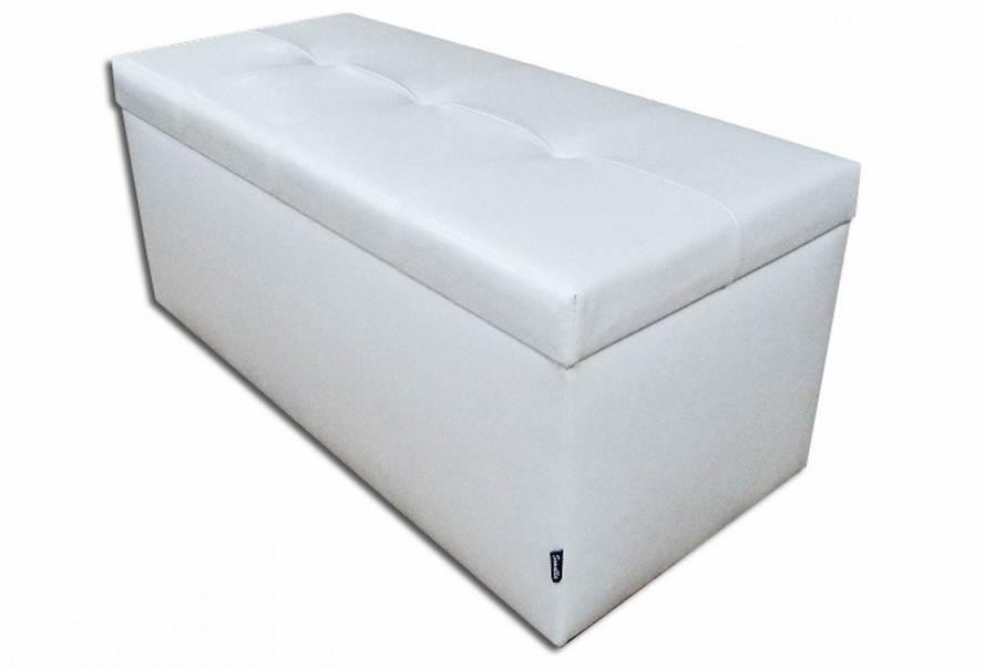 Банкетка Стенді з ящиком (екокожа біла)