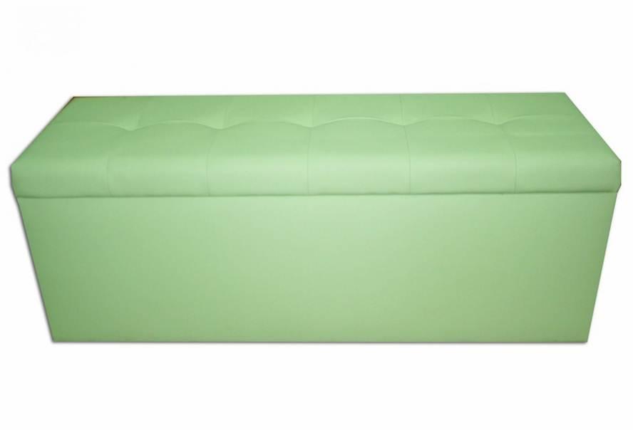 Банкетка Стенді з ящиком (екокожа зелена)