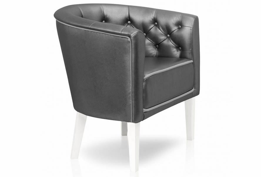 Кресло Доминика (экокожа серая)