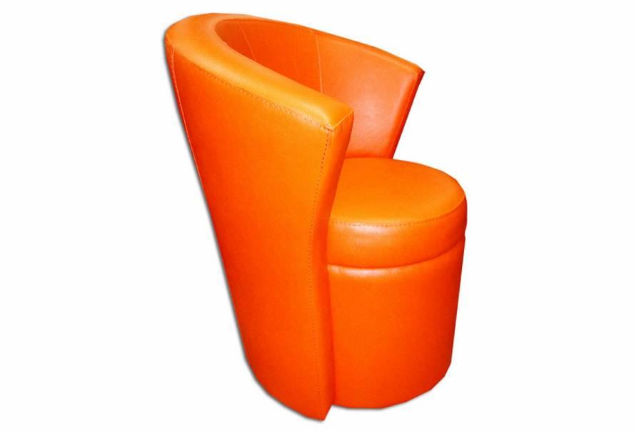 Кресло Рондо (экокожа оранжевое)