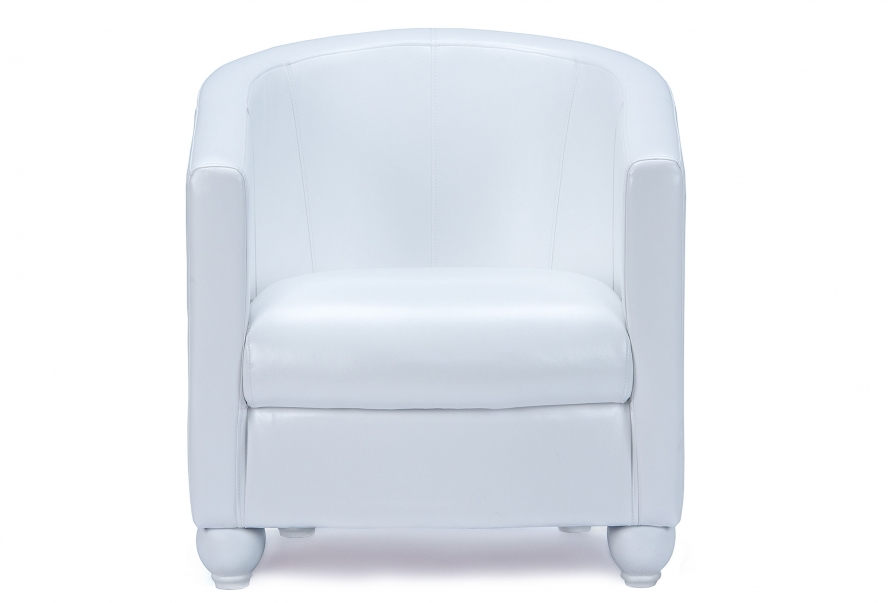 Крісло Фортуна (екокожа біла)