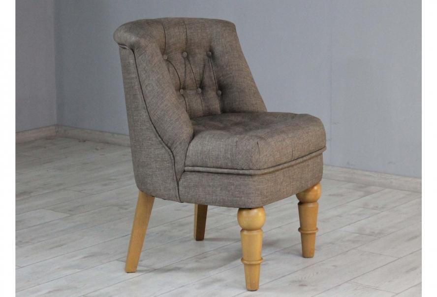 Крісло Прованс (рогожка коричневий, ніжки горіх)