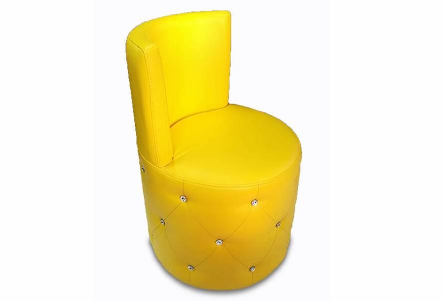 Пуф Палермо зі спинкою (екокожа жовтий)