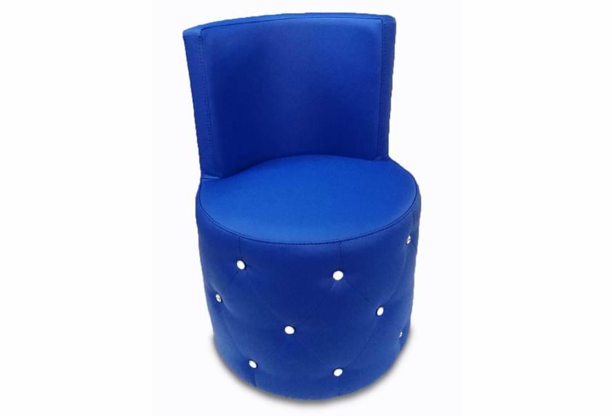 Пуф Палермо зі спинкою (екокожа синій)