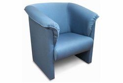 Кресло Манчестер (рогожка голубой)