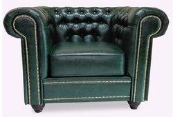Кресло Честер Винтаж (экокожа зеленый)
