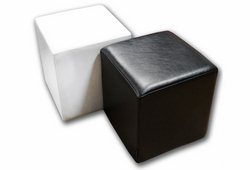 Пуф Куб (екокожа глянець білий)