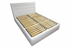 Кровать Лидия (экокожа белый)