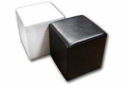 Пуф Куб (экокожа глянец черный)