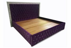 Кровать Шайн (велюр сиреневый)