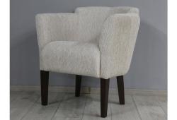 Кресло Мишель (шенилл кремовый ножки венге)