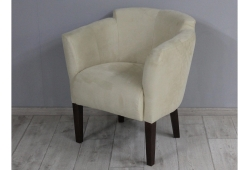 Кресло Мишель (замш бежевый ножки венге)