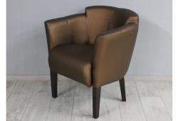 Кресло Мишель (экокожа коричневая ножки венге)