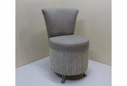 Кресло Риччи (велюр серый однотонный верх и низ в полоску)