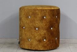 Пуф Венеция (велюр коричнево - рыжий)