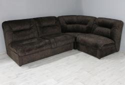 Кутовий диван Візит (велюр темно-коричневий, на ліву сторону)