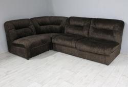 Кутовий диван Візит (велюр темно-коричневий на праву сторону)
