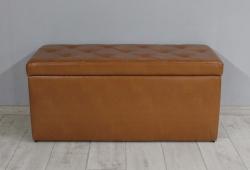 Банкетка Флоренція з ящиком (екокожа коричневий)