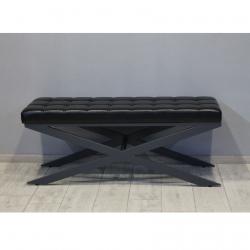 Банкетка Сетра, екошкіра чорний, RAL7024