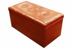 Банкетка Стенді з ящиком (екокожа помаранчева)