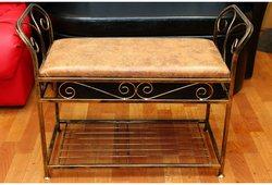 Банкетка Версаль маленькая (экокожа коричневая)