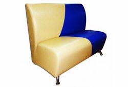 Диван Рокі Стандарт (екокожа жовтий з синім)