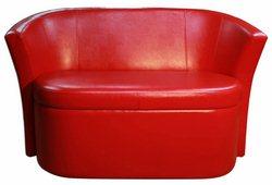 Диван Рондо с ящиком (экокожа красный)