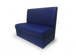 Диван Валенсия (экокожа синий)