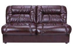 Диван Визит (экокожа темно коричневая)