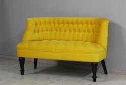 Диван Прованс (велюр желтый, ножки черные)