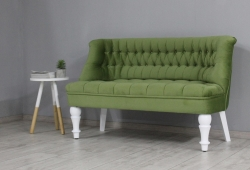 Диван Прованс (велюр зелений ніжки білі)