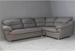 Угловой диван Вайн (рогожка коричневая)