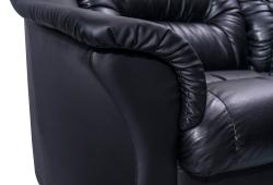 Кутовий диван Візит з боковинами (екокожа чорний)