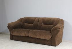 Диван Візит розкладний з підлокітниками (велюр коричневий)