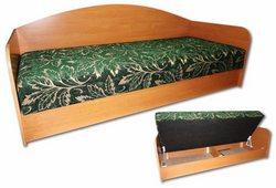 Кровать - тахта Верона (ДСП флок зеленый узор)