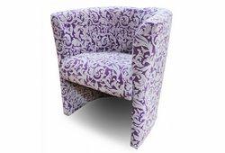 Кресло Бонус (велюр фиолетовый, цветочный узор)