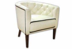 Кресло Доминика (экокожа белая)