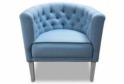Кресло Доминика (экокожа голубая)