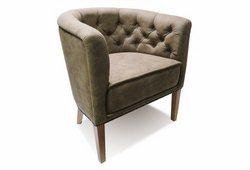 Кресло Доминика ( нубук коричневый)