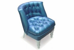 Кресло Прованс (экокожа синий)
