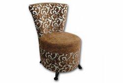 Кресло Риччи (коричневый велюр и жаккард с узором)