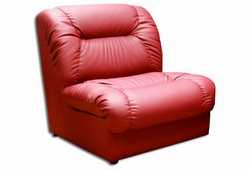 Кресло Визит (экокожа красное)