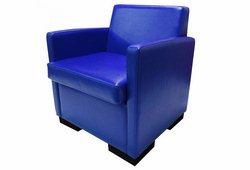 Кресло Вуди (экокожа синее)