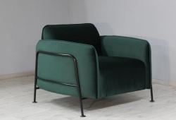 Крісло Бергамо (велюр зелений)