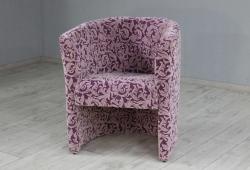 Кресло Бонус (флок фиолетовый, растительный узор)
