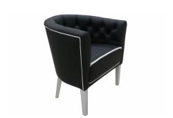 Кресло Доминика (экокожа черная)