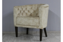 Кресло Доминика (велюр бежевый ножки венге)