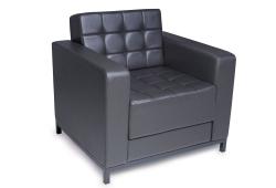 Кресло Sovalle Лаунж (экокожа темно-серый)